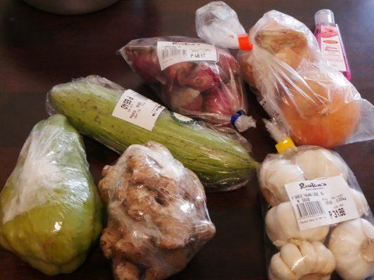 フィリピンのスーパーで購入した野菜