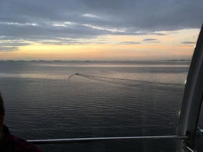 観覧車からのマニラ湾の夕焼け