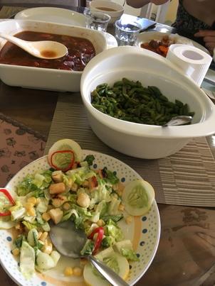 サラダ、炒め物