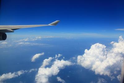 フライト中の写真